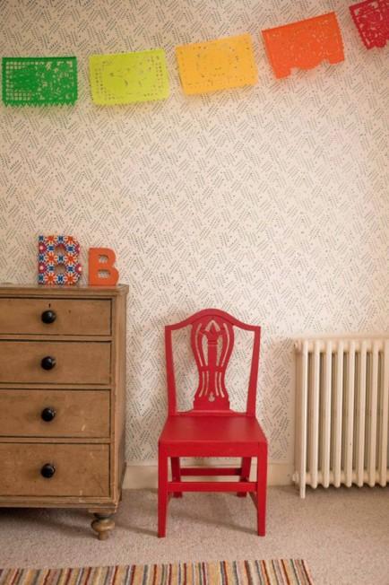 Mengganti Wallpaper dengan Patterned Paint Rollers