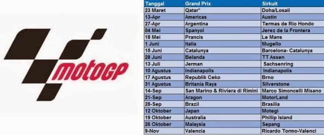 Jadwal MotoGP 2014